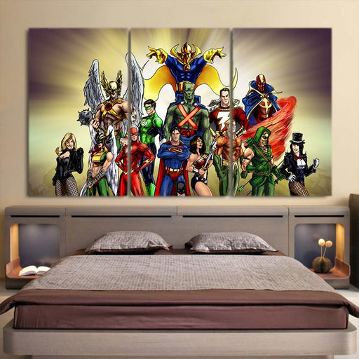 The Union Of Legends Fabulous Style 3pcs Canvas Print