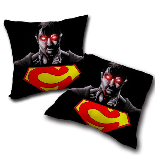 The Wicked Black Superman Dark Design Comfy Throw Pillow