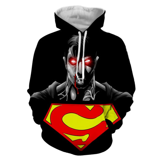 The Wicked Black Superman Dark Design Full Print Hoodie