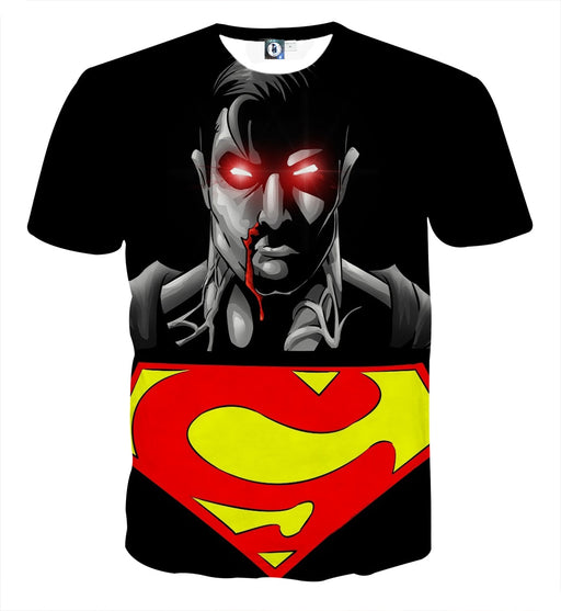 The Wicked Black Superman Dark Design Full Print T-Shirt