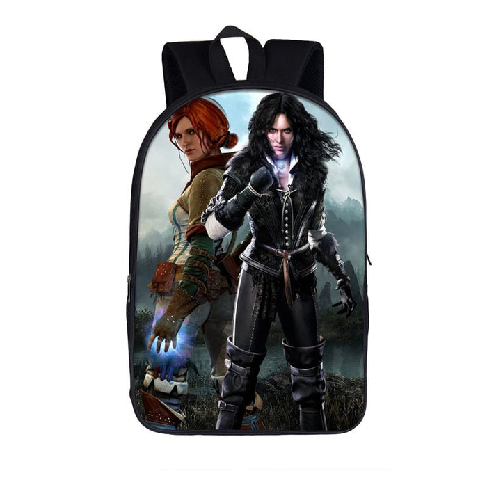 The Witcher 3 Wild Hunt Angry Yennefer And Triss Backpack Bag