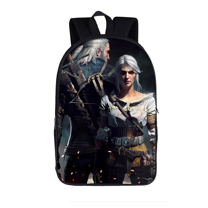The Witcher 3 Wild Hunt Geralt & Ciri Scary Team Up Backpack Bag