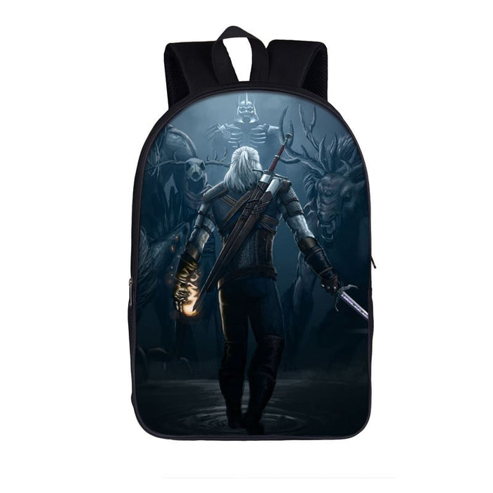 The Witcher 3 Wild Hunt Geralt Ready To Fight Backpack Bag
