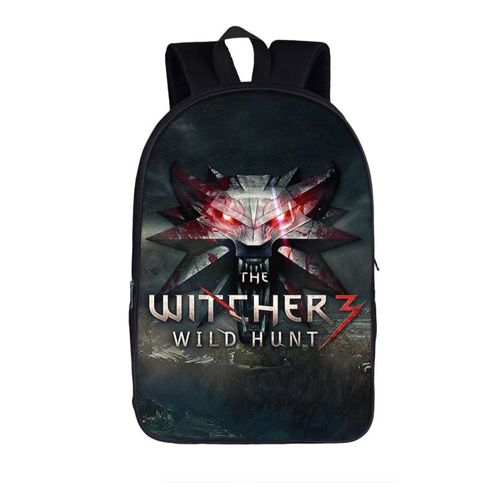 The Witcher 3 Wild Hunt Wolves Symbol Emblem Backpack Bag
