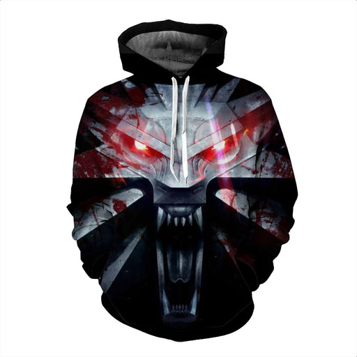 The Witcher 3 Wild Hunt Wolves Symbol Emblem Black Hoodie