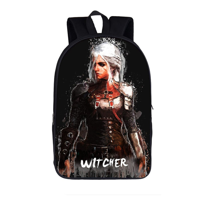 The Witcher Ciri Walking In The Rain Art Design Backpack Bag