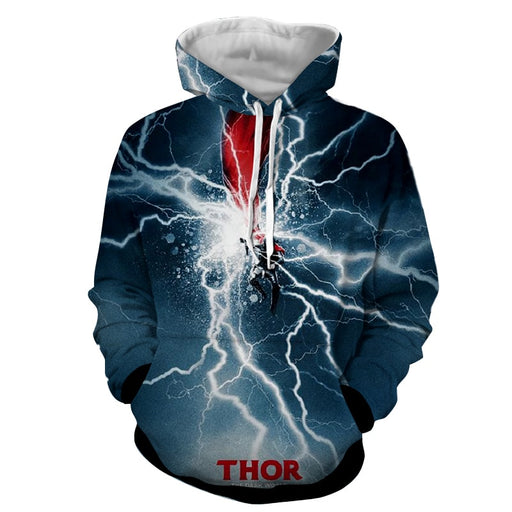 Thor Avengers Marvel Comic The Dark World Mjolnir Hoodie