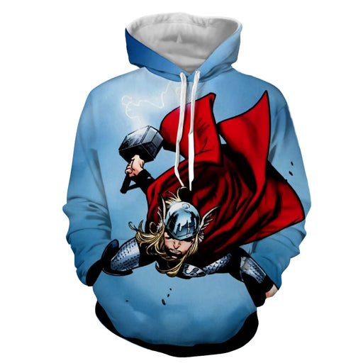 Thor Avengers Marvel Fighting Mjolnir Comic Nice Hoodie