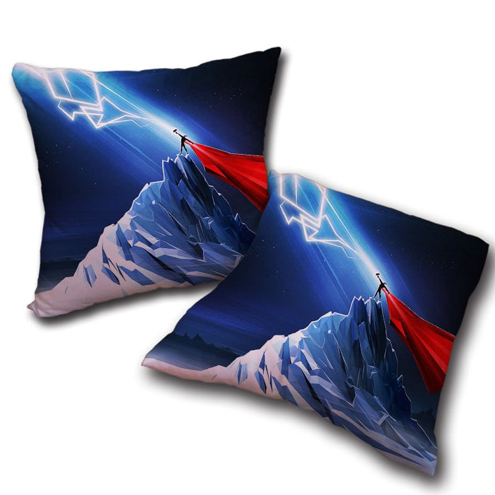 Thor Get Power From Hammer Standing Mountain Cool Pillow