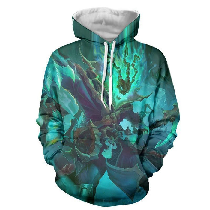 League of Legends Thresh Warrior Champion Classic Green Hoodie