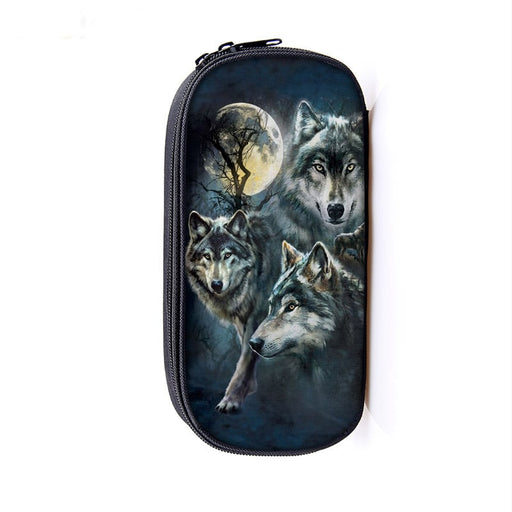Thrilling Wolfpack Hunt Gray Wolves On The Watch Pencil Case