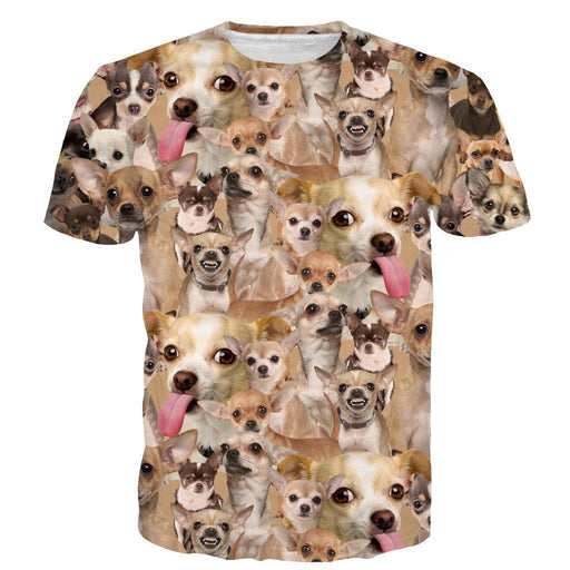 3bb94ec5 Ugly Angry Chihuahua Mania Cute Dog Pet Full Print 3D T-shirt - Woof Apparel
