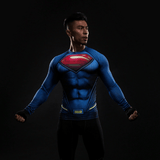 DC Superman Inspired Blue 3D Printed Compression Training T-shirt