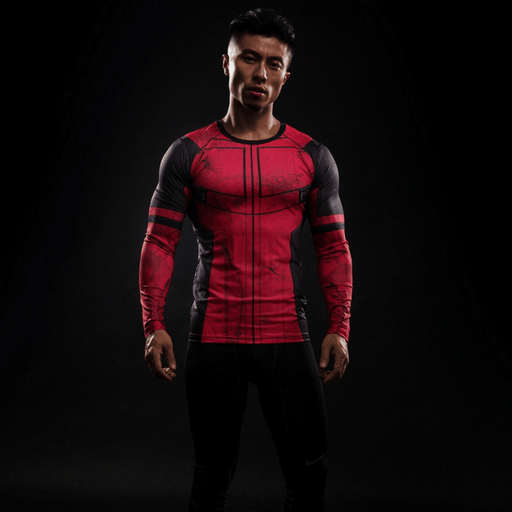 Funny Deadpool 3D Compression Long Sleeves Fitness Printed T-shirt - Superheroes Gears