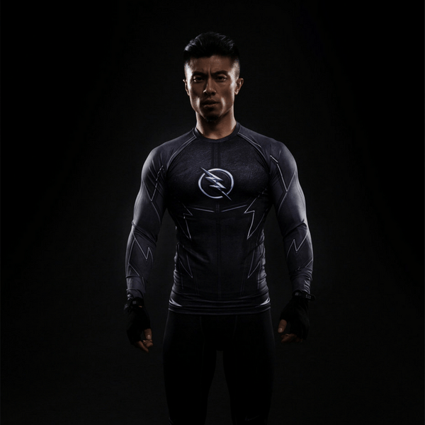 DC The Flash Zoom 3D Printed Compression Long Sleeves Fitness T-shirt