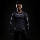 Black Panther Civil War Long Sleeves Athletic Compression T-shirt