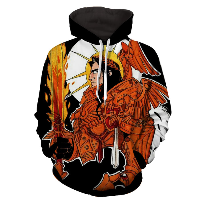 Warhammer 40k Ave Imperator The Emperor of Mankind Hoodie