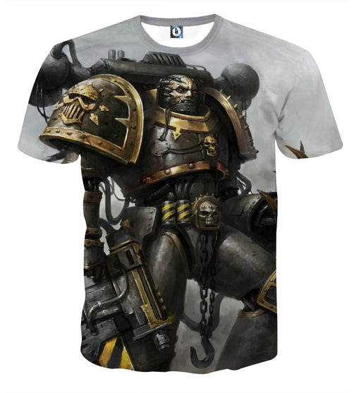 Warhammer 40k Chaos Space Marine Artwork Fantasy T-shirt