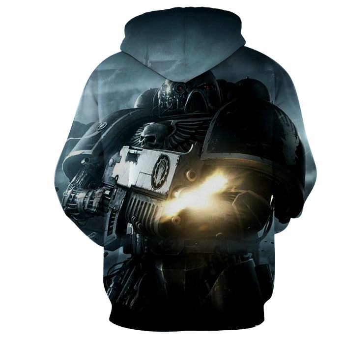 Warhammer 40k Ultramarines Chapter Space Marine Hoodie