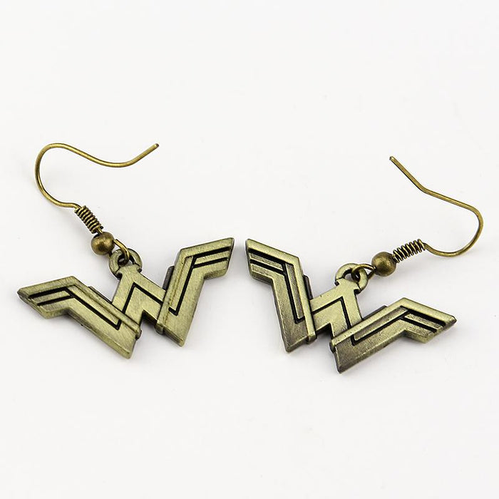 Wonder Woman DC Comics Symbol Logo Trendy Earrings