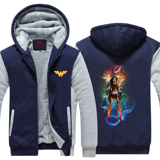 Wonder Woman Painting Colorful Super Cool Hooded Jacket