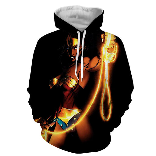 Wonder Woman Powerful Golden Lasso Black Amazing Hoodie