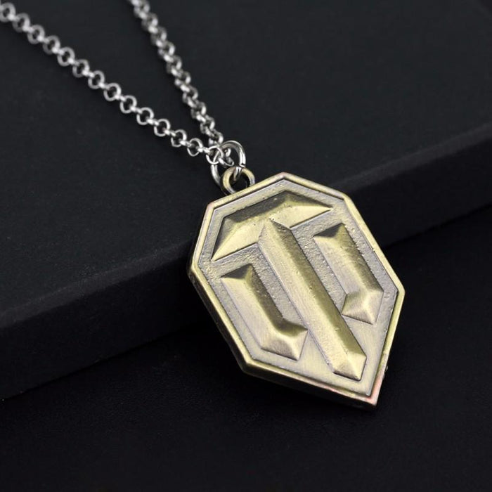 World of Tanks WOT Game Logo Symbol Pendant Necklace