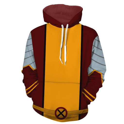 X-Men Colossus Piotr Rasputin Mutant Uniform Cosplay Hoodie