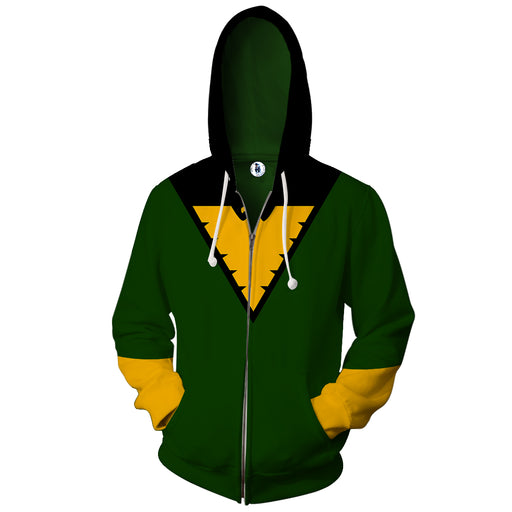 X-Men Dark Pheonix Superhero Green Uniform Zip Up Hoodie