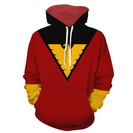 X-Men Dark Phoenix Superhero Red Suit Uniform Cosplay Hoodie