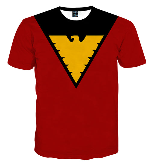 X-Men Dark Phoenix Superhero Red Suit Uniform Cosplay T-Shirt