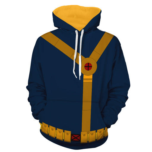 X-Men Scott Summers Cyclops Dope Blue Suit Cosplay Hoodie
