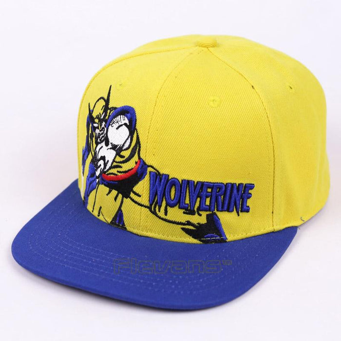 X-Men Wolverine Blue and Yellow Streetwear Snapback Baseball Cap