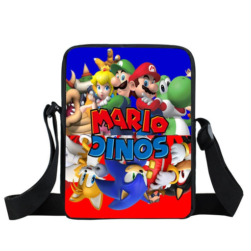 Mario And Sonic Upside Down Character Design Cross Body Bag
