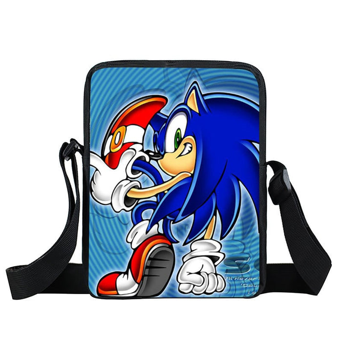 Sonic The Hedgehog Cool Back Pose Blue Cross Body Bag