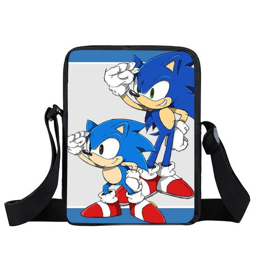 Adorable Sonic And Monty The Hedgehog Cross Body Bag
