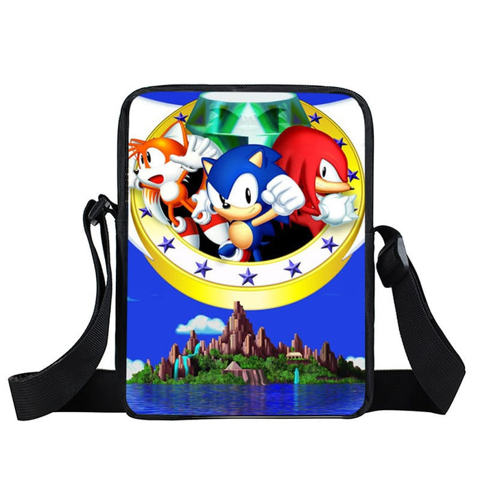Sonic Tails Knuckles The Hedgehog Dope Cross Body Bag