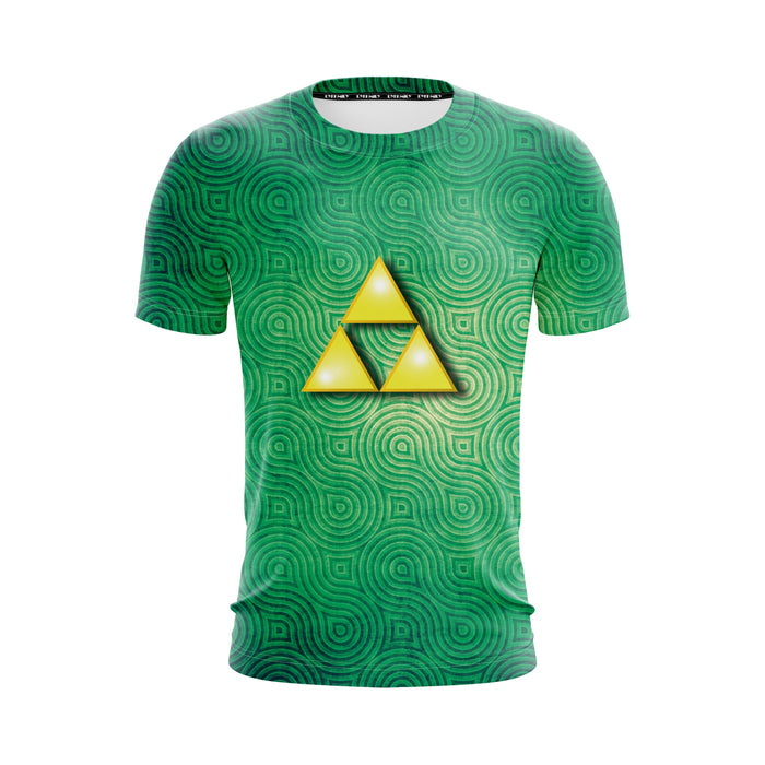 The Legend Of Zelda Triforce Symbol Minimalist Green T-Shirt