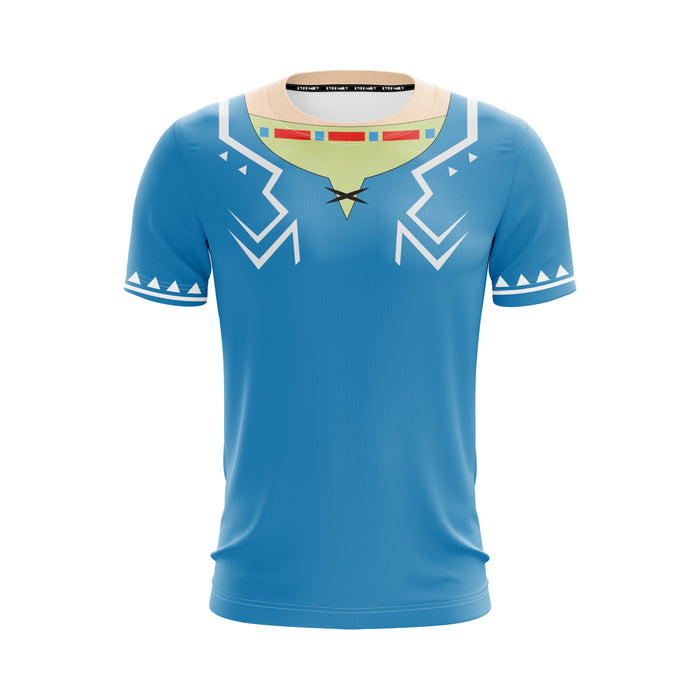 The Legend Of Zelda Link's Cape Design Stylish Blue T-Shirt