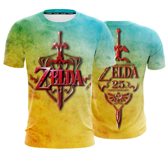 The Legend Of Zelda Vibrant Red Sword Stylish Design T-Shirt