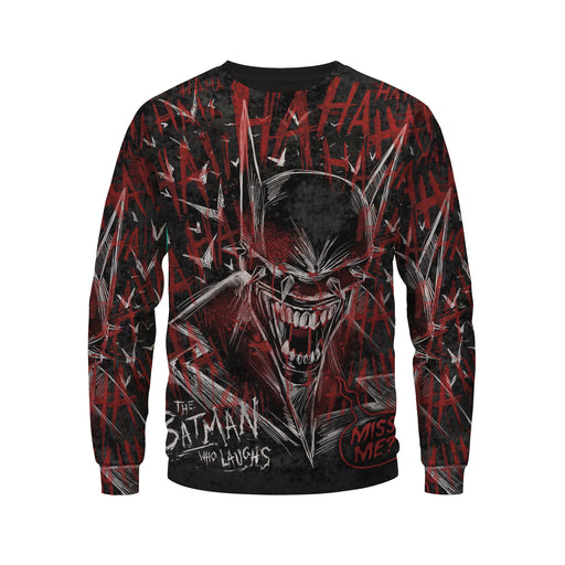 The Batman Who Laughs Bloody And Creepy Design Sweatshirt