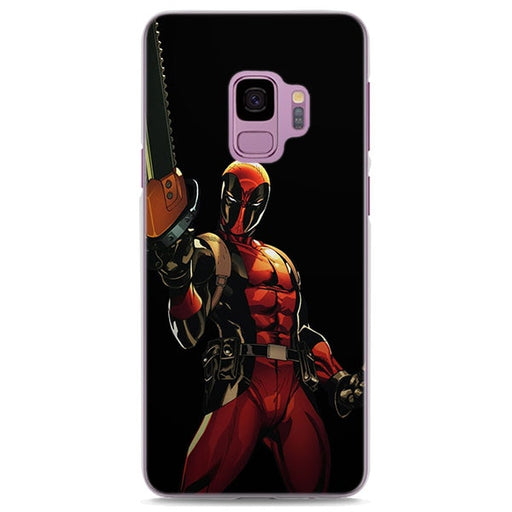 Deadpool Chainsaw Black Samsung Galaxy Note S Series Case