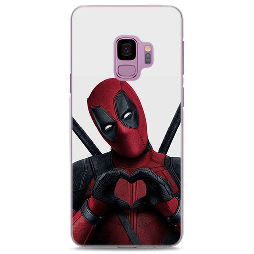 Deadpool Heart Hands White Samsung Galaxy Note S Series Case