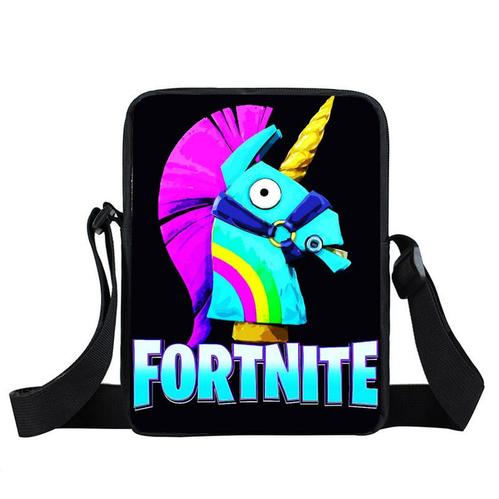 Fortnite Battle Royale Funny Rainbow Unicorn Cross Body Bag