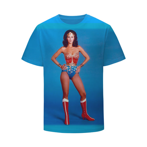 Classic Vintage Diana Prince Wonder Woman Design Blue T-shirt