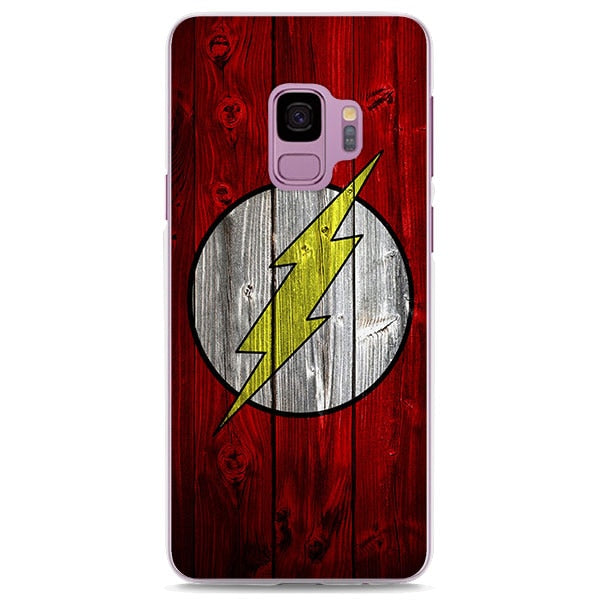 The Flash Symbol Wood Painting Samsung Galaxy Note S Series Case