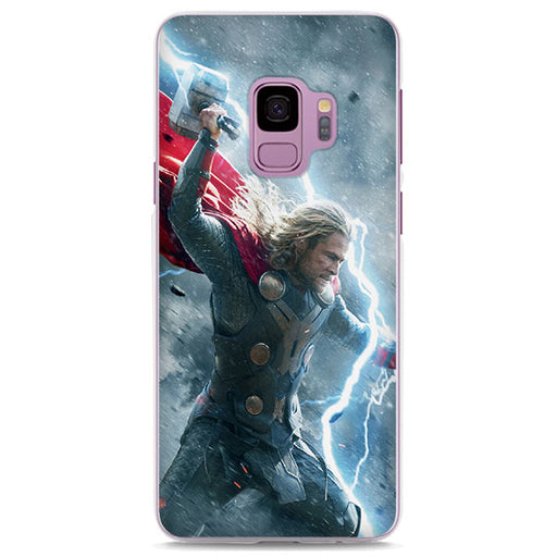 Thor God Of Thunder Wielding Mjolnir Samsung Galaxy Note S Case
