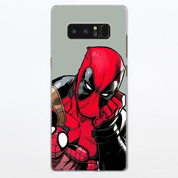 Deadpool With Spiderman Doll Comic Art Samsung Galaxy Note S Case