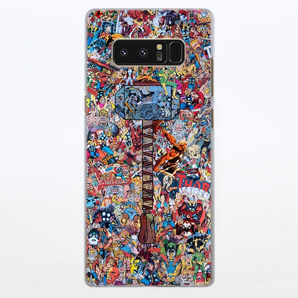 Thor Hammer Mjolnir Comic Art Collage Samsung Galaxy Note S Series Case