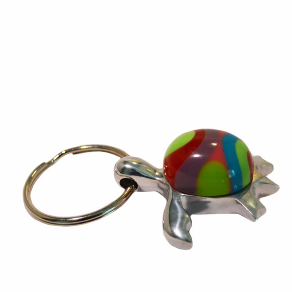Sea Turtle Key Chain Handcrafted in Recycled Aluminum and Resine (Assorted)